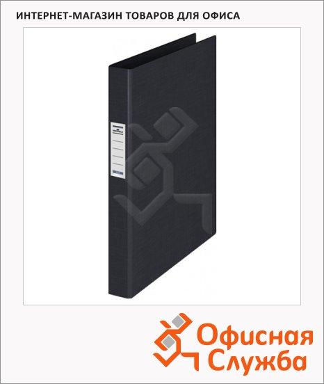Папка на 4-х кольцах А4 Durable черная, 35 мм, 3140-01