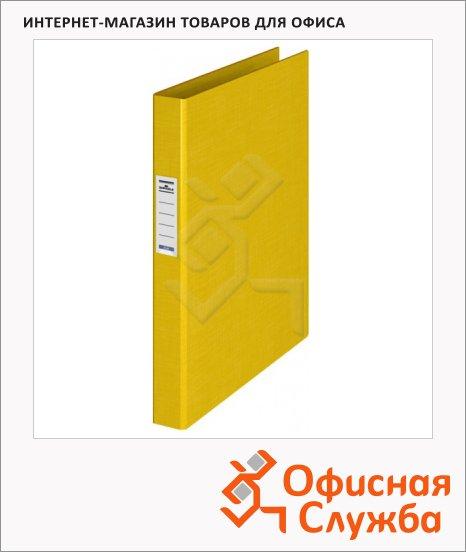 Папка на 4-х кольцах А4 Durable желтая, 35 мм, 3140-04