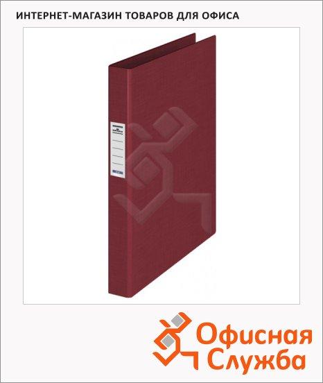 фото: Папка на 4-х кольцах А4 Durable темно-красная 35 мм, 3140-31