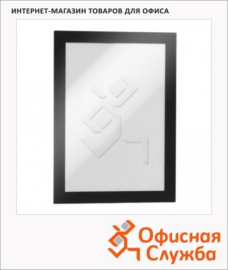 Настенная магнитная рамка Durable Fotoframe Plus А5, черная, прямоугольная, 10шт, 488101