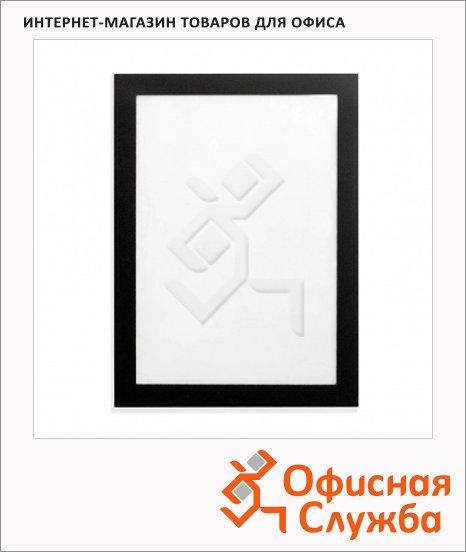 Настенная магнитная рамка Durable Fotoframe черная, 9х13см, 488401