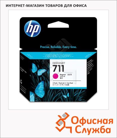 Картридж струйный Hp 711 CZ135A, пурпурный
