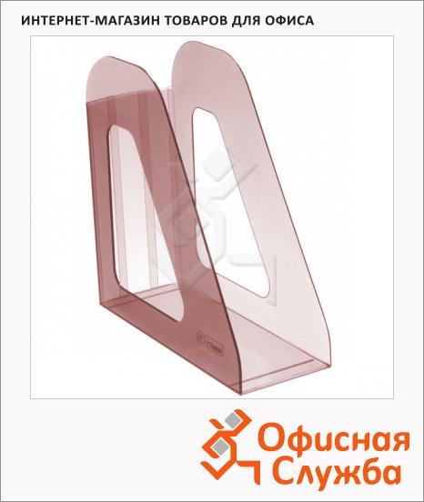 Накопитель вертикальный для бумаг Стамм Фаворит А4, 90мм, вишня, ЛТ708
