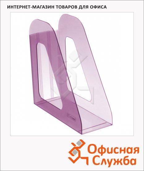 фото: Накопитель вертикальный для бумаг Стамм Фаворит А4 90мм, слива, ЛТ709