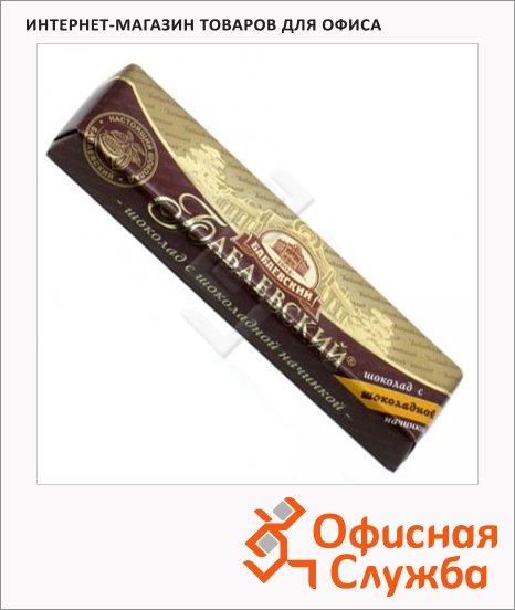 Шоколад Бабаевский темный с шоколадной начинкой, 50г