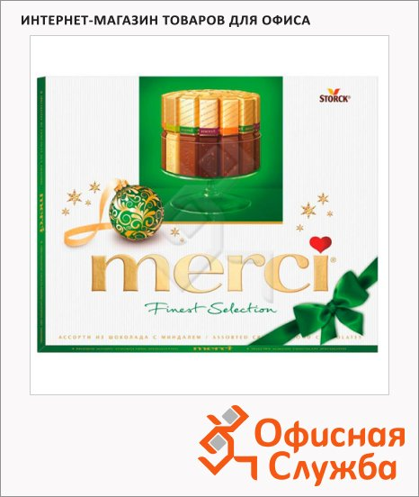 фото: Конфеты Merci 4 вида шоколада с миндалем 250г