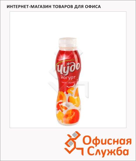 Йогурт питьевой Чудо 2.4% персик-абрикос, 290г