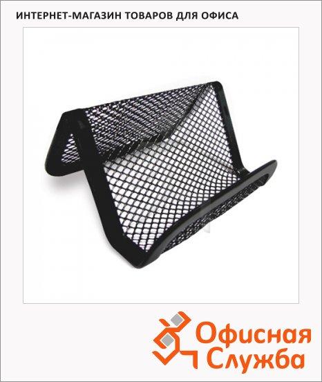 фото: Подставка для визитных карточек Brauberg Germanium 43х95х71мм, черная