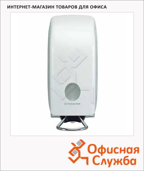 Диспенсер для мыла в картриджах Kimberly-Clark Aquarius 6955, с локтевым приводом, белый, 1л