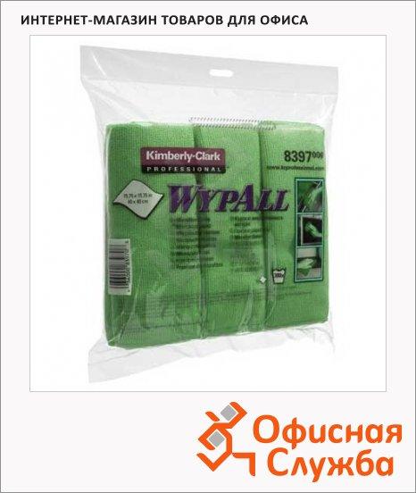 Протирочные салфетки Kimberly-Clark WypAll 8396, микрофибра, 6шт, зеленые