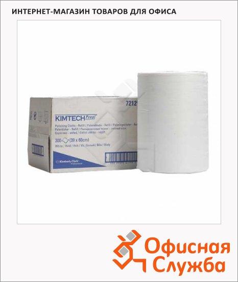 фото: Протирочные салфетки Kimtech 7212 белые, 300 листов, 1 слой, 39 х 60см