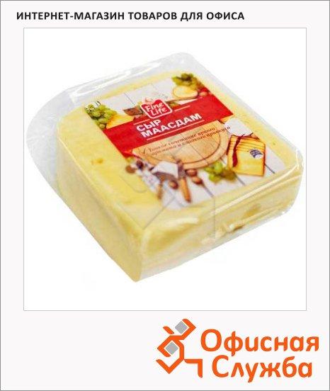 Сыр твердый Fine Life 45% Маасдам, кг