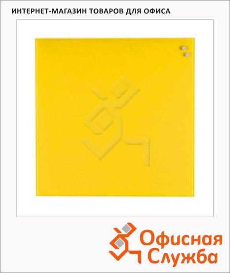 Доска магнитная маркерная стеклянная Naga 10773 45х45см, желтая