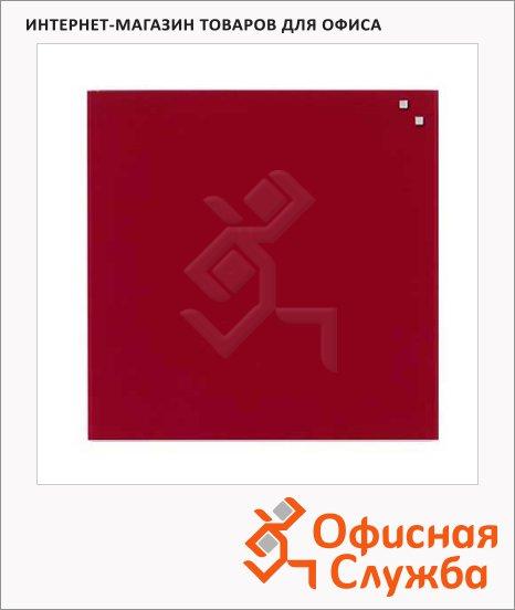 Доска магнитная маркерная стеклянная Naga 10773 45х45см, красный томат