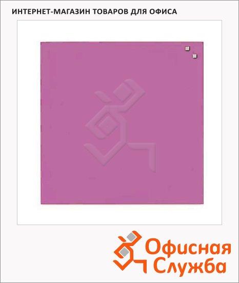 фото: Доска магнитная маркерная стеклянная 10773 45х45см светло-розовая