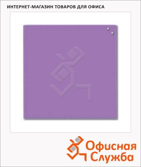 Доска магнитная маркерная стеклянная Naga 10773 45х45см, светло-фиолетовая
