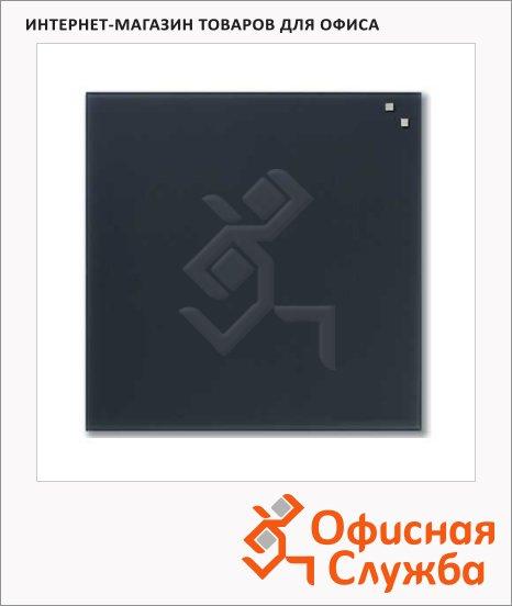 Доска магнитная маркерная стеклянная Naga 10773 45х45см, серая