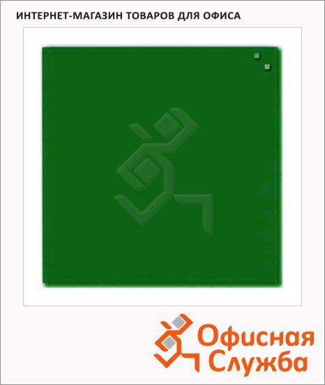 Доска магнитная маркерная стеклянная Naga 10773 45х45см, тёмно-зелёная