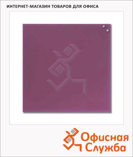 Доска магнитная маркерная стеклянная Naga 10773 45х45см, фуксия