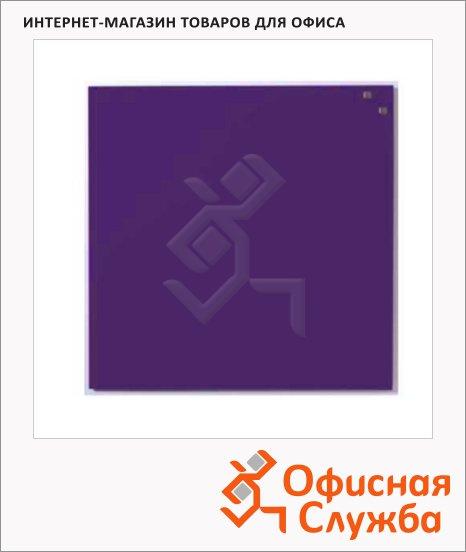 Доска магнитная маркерная стеклянная Naga 10773 45х45см, ярко-фиолетовая
