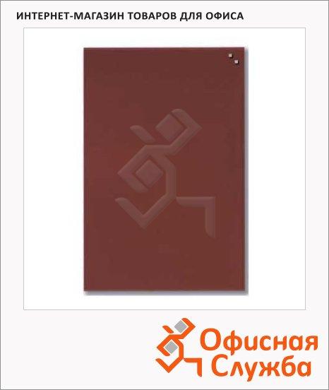 фото: Доска магнитная маркерная стеклянная 10573 40х60 см красная