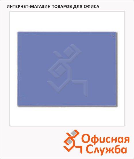 фото: Доска магнитная маркерная стеклянная 10360 80х60см кобальтовая синяя