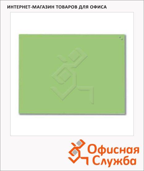 Доска магнитная маркерная стеклянная Naga 10360 80х60см, светло-зеленая
