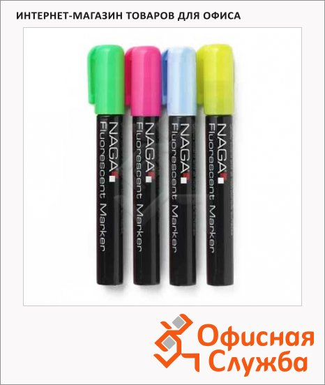 фото: Набор маркеров меловых 4 цвета 16мм
