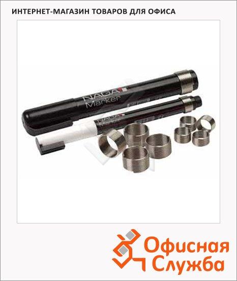 фото: Кольца для маркеров для магнитно-маркерной доски Naga 23905 10/16 мм 10шт, серебристые