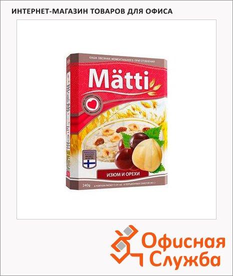 Каша овсяная Matti изюм/орех, 6шт x 40г