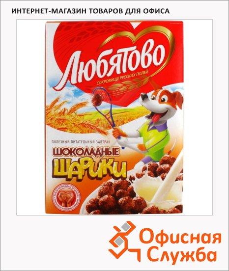 фото: Готовый завтрак Любятово шарики шоколадные 250г