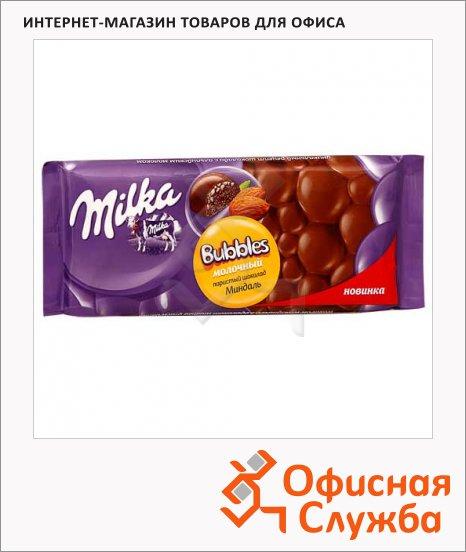 Шоколад Milka Bubbles молочный с миндалем