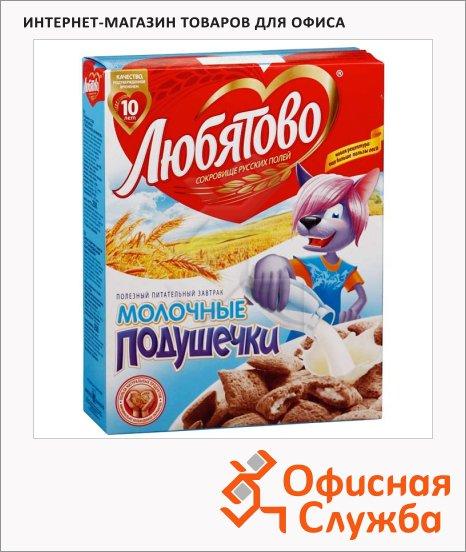 фото: Готовый завтрак Любятово подушечки с молочной начинкой 250г