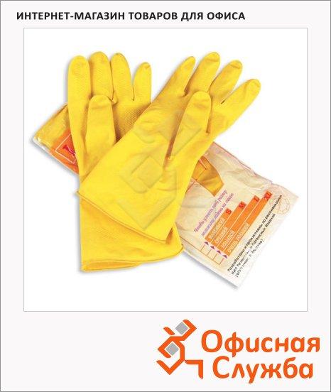 Перчатки латексные Paclan Professional р.М, желтые