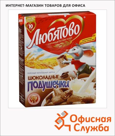 фото: Готовый завтрак Любятово подушечки с шоколадной начинкой 250г