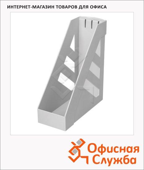 Накопитель вертикальный для бумаг Стамм Ультра А4, 100мм, серый, ЛТ01