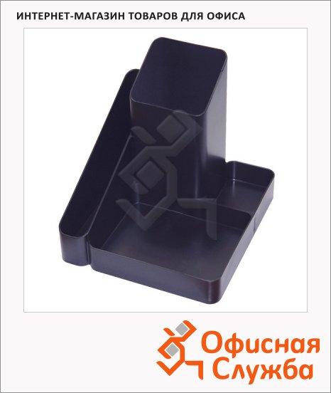 Органайзер настольный Стамм Имидж 5 секций, 122х111мм, черный, ОР31