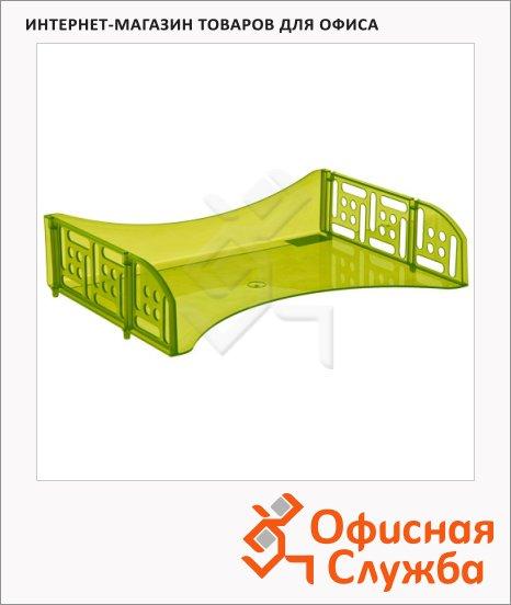 фото: Лоток горизонтальный для бумаг Стамм Филд А4 лайм, ЛТ806