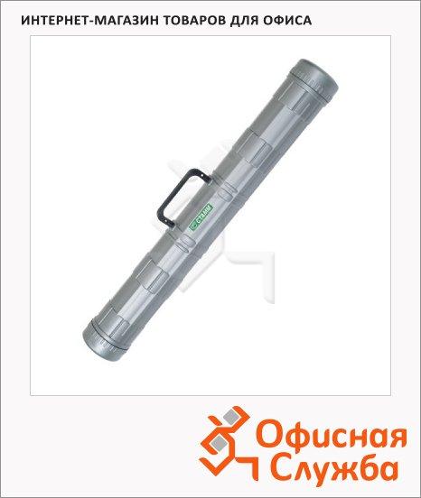 Тубус с ручкой Стамм ПТ22 D=9см, L=70см, серый