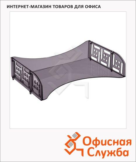 фото: Лоток горизонтальный для бумаг Стамм Филд А4 серый, ЛТ803