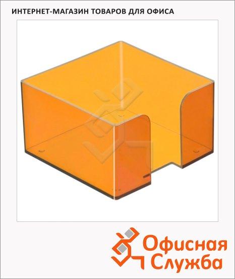 Подставка для бумажного блока Стамм ПЛ52 манго, 9.5х9.5х5.2см, пластик, тонированная