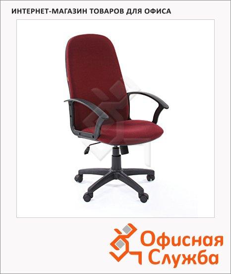 Кресло руководителя Chairman 289 NEW ткань, крестовина пластик, бордовая