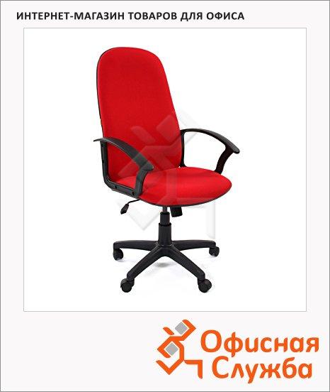 Кресло руководителя Chairman 289 ткань, крестовина пластик, красная, NEW
