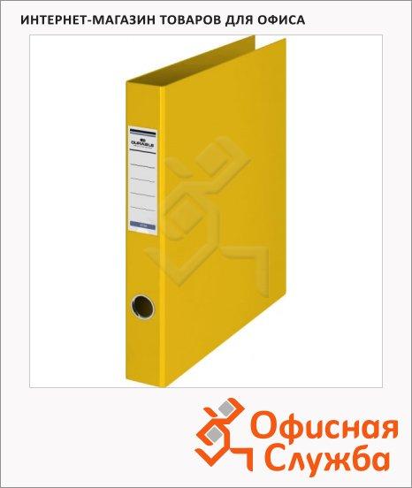 Папка на 4-х кольцах А4 Durable желтая, 65 мм, 3160-04