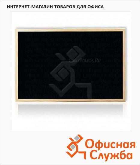 фото: Доска меловая Hebel Maul 80х60см черная, пластик, деревянная рама