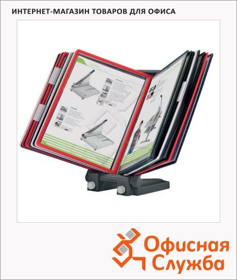 Демосистема настольная Office Force 10 панелей, А4, ассорти