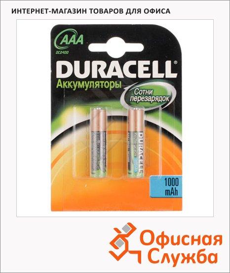 Аккумулятор Duracell AAА/HR03, 2шт/уп, 800mAh