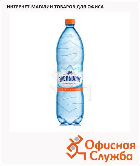 Вода минеральная Эдельвейс газ, 1.5л х 6шт, ПЭТ