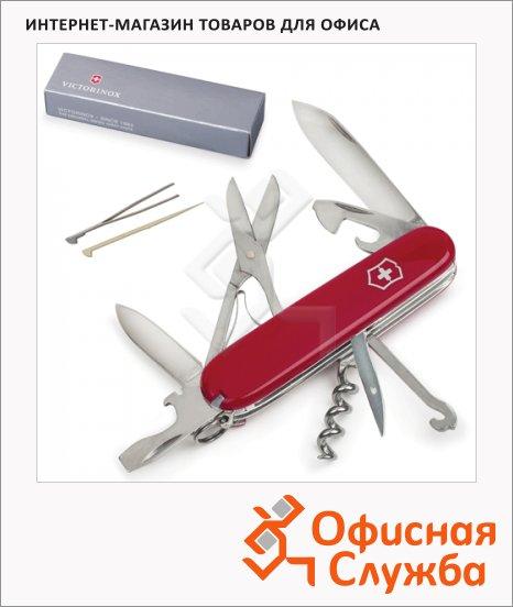 фото: Нож солдатский 91мм Victorinox Climber 1.3703 14 функций, красный, с фиксатором