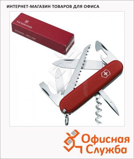 фото: Нож солдатский 91мм Ecoline 3.3613 13 функций, красный, с фиксатором